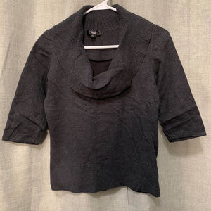 AGB gray scoop neck top